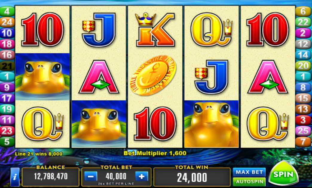 Turtle Treasure Slot Machine Free Play